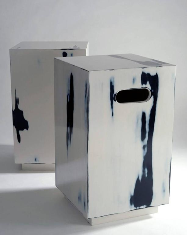 Alpha Workshops Side Table in Specialty Finishes In Excellent Condition For Sale In New York, NY