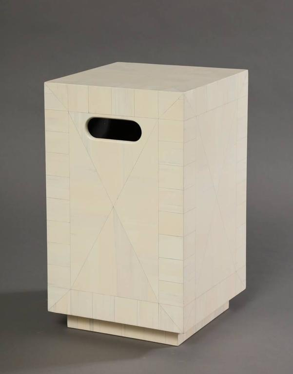 Contemporary Alpha Workshops Side Table in Specialty Finishes For Sale