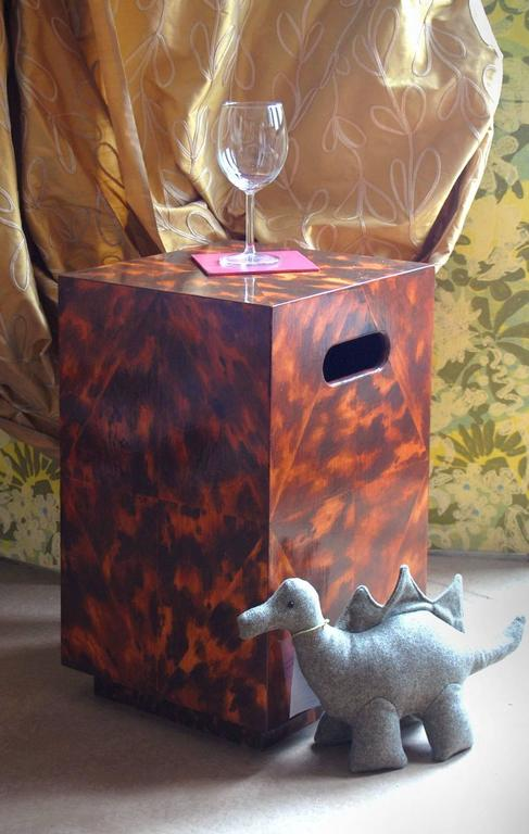 Paint Alpha Workshops Side Table in Specialty Finishes For Sale