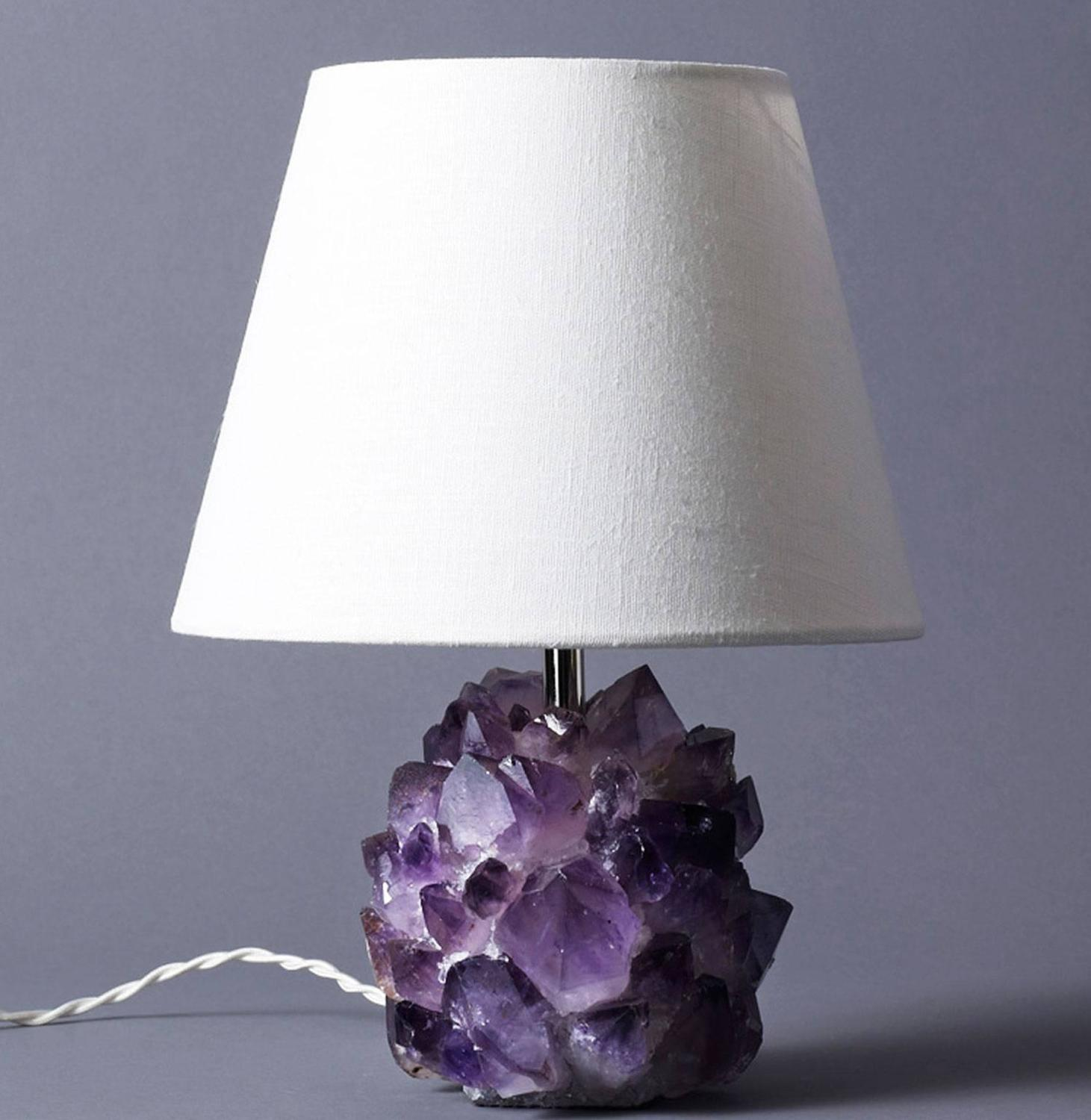 Liz O Brien Editions Amethyst Crystal Lamps For Sale At