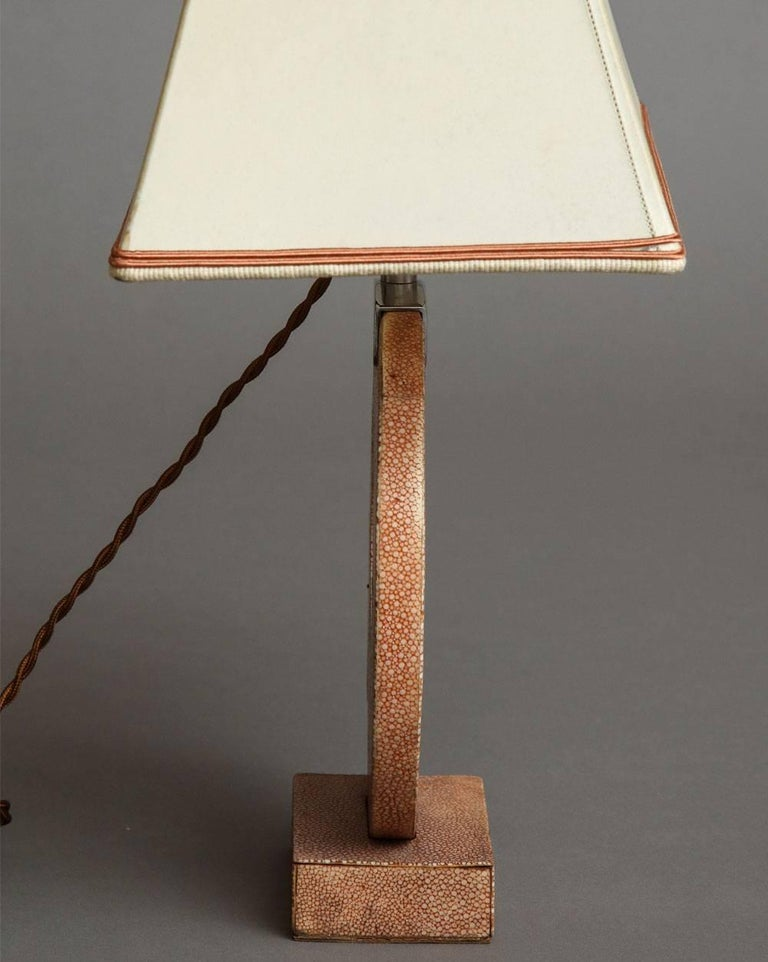 Modern Shagreen Table Lamp For Sale