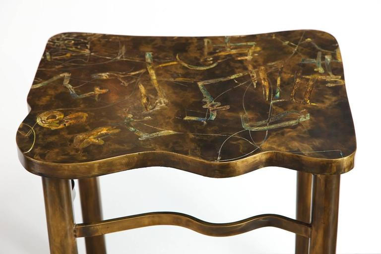 Mid-20th Century Philip & Kelvin LaVerne Side Table For Sale