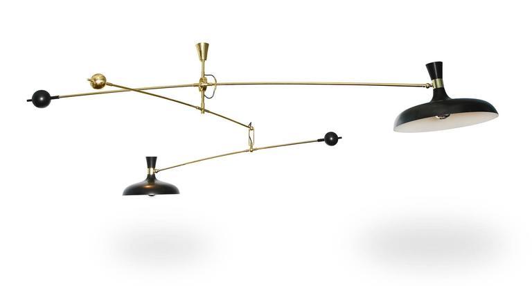 Italian Fedele Papagni Mobile Hanging Light For Sale