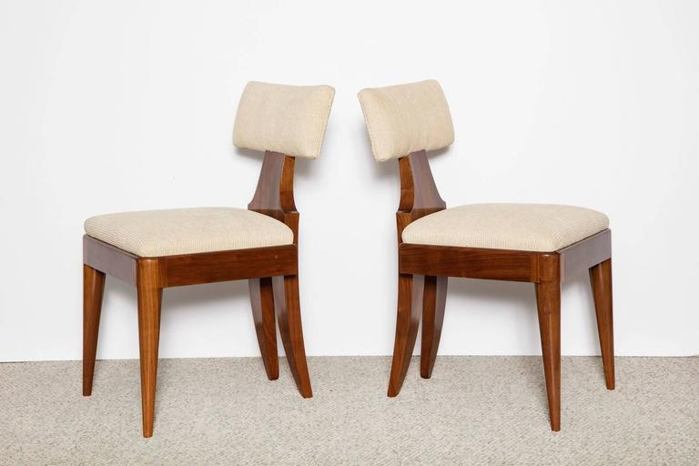 Andrew Szoeke Side Chairs In Excellent Condition For Sale In New York, NY