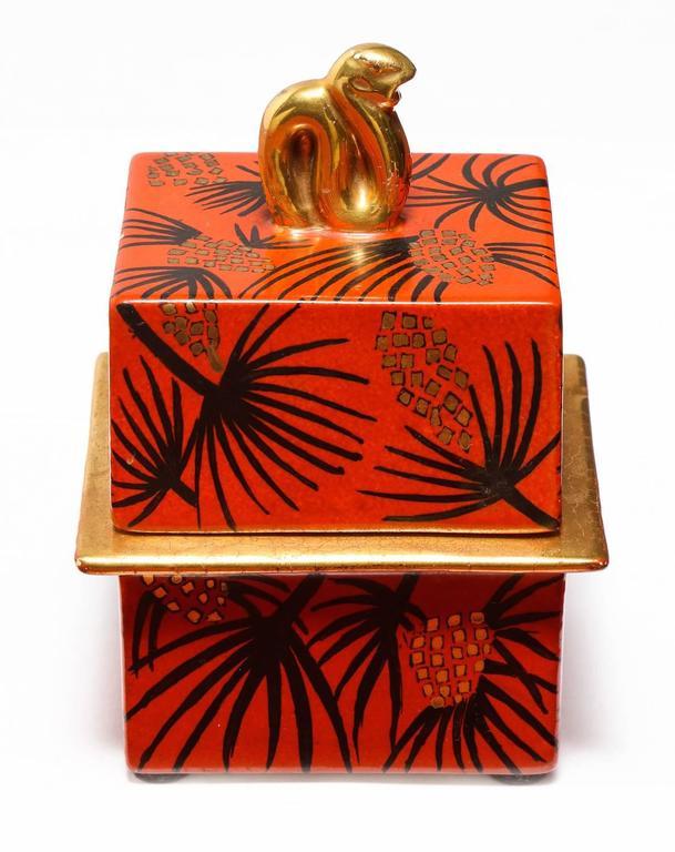 Mid-Century Modern Gio Ponti Lidded Box For Sale