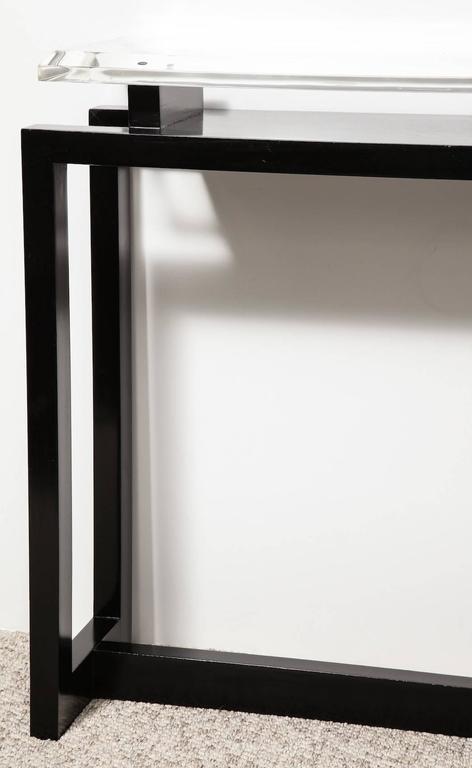 Lucite Paul Lászlo Console Table For Sale