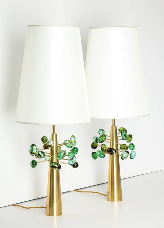 "Mid-Century Modern Roberto Rida ""Ghiande,"" Table Lamps For Sale"