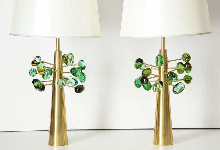 "Italian Roberto Rida ""Ghiande,"" Table Lamps For Sale"