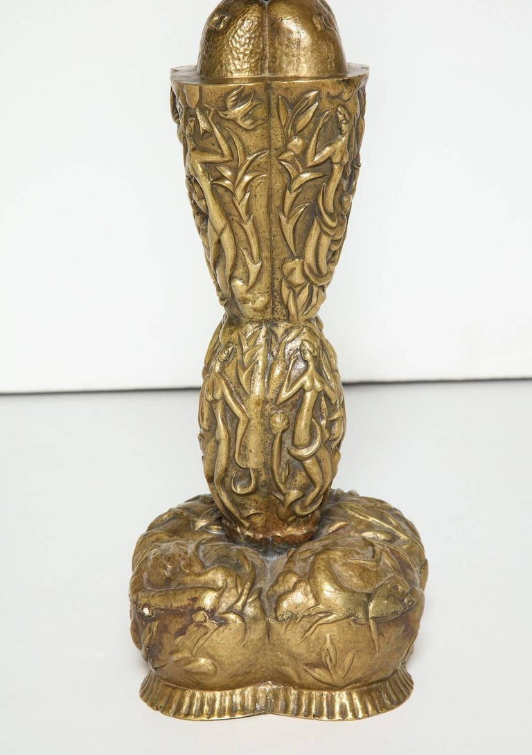 Austrian Karl Hagenauer Table Lamp For Sale