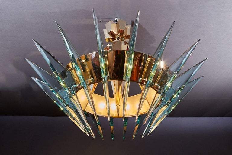 Contemporary Ghiró Studio Chandelier For Sale