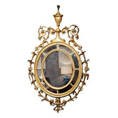 18th Century Adam Style Gilt Oval Mirror
