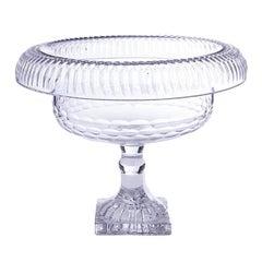 18th Century Georgian Decorative Cut Glass Footed Bowl