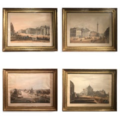 """Set of Four Early 19th Century Prints """"Views of Dublin"""" after T.S. Roberts"""