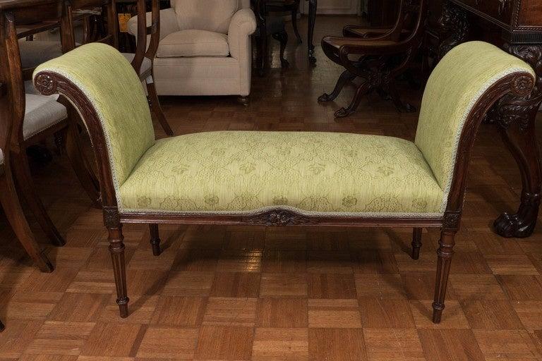 Early 19th Century Regency Mahogany Window Seat For Sale
