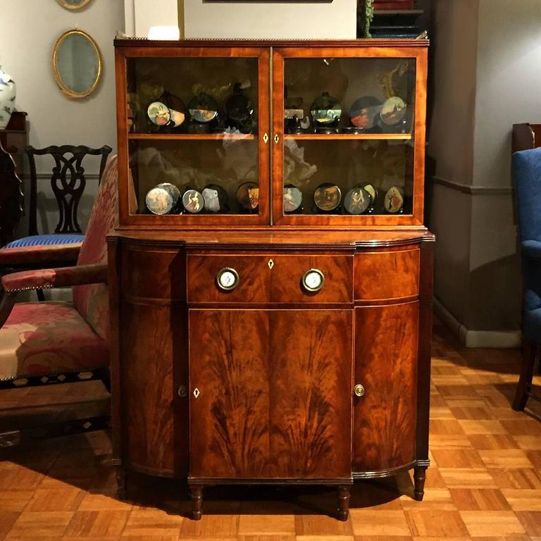 Early 19th Century Mahogany Breakfront Display Cabinet 8