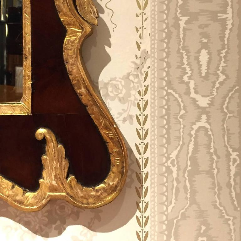18th Century English Georgian Mahogany and Gilt Mirror For Sale 1