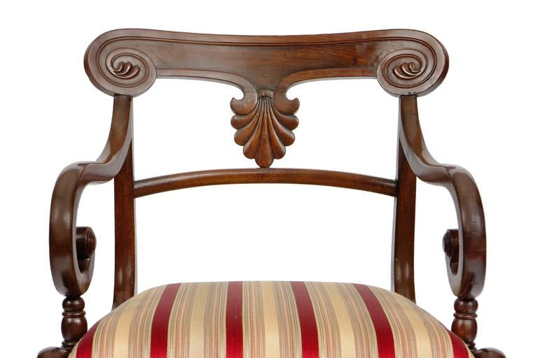 Set of 20 Early 19th Century Regency Mahogany Dining Chairs For Sale 1