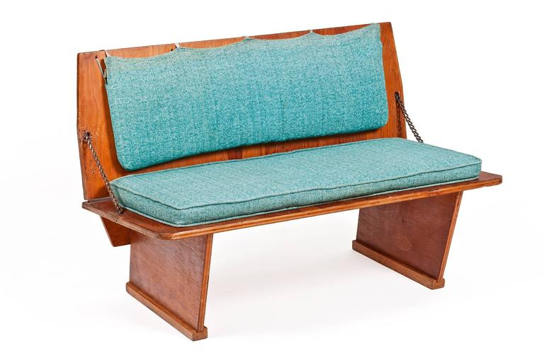 American Frank Lloyd Wright Benches and Table from Wright's 1951 Unitarian Church For Sale