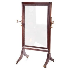 19th Century William IV Century Cheval Mirror