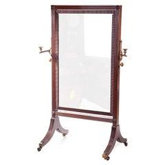19th Century William IV Century Cheval Mirror