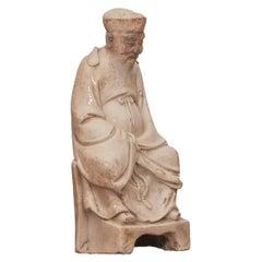17th Century Ming Period Blanc de Chine Figure of Tudi