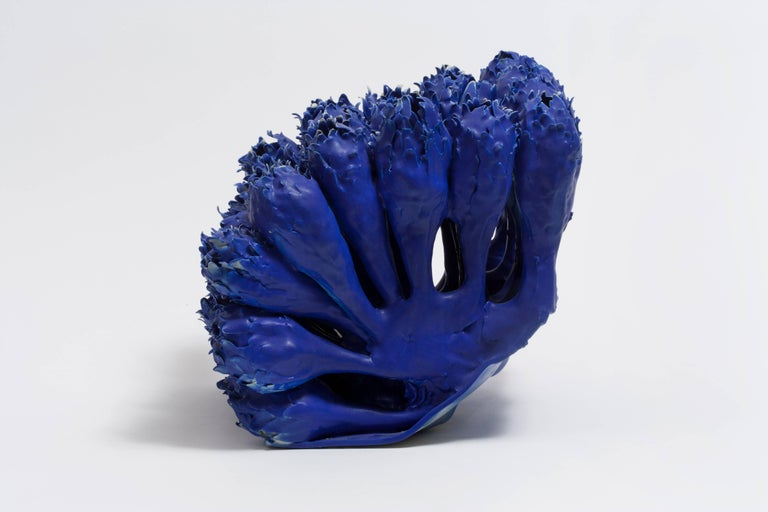 Flowers in Blue, Porcelain Sculpture by Anat Shiftan 2