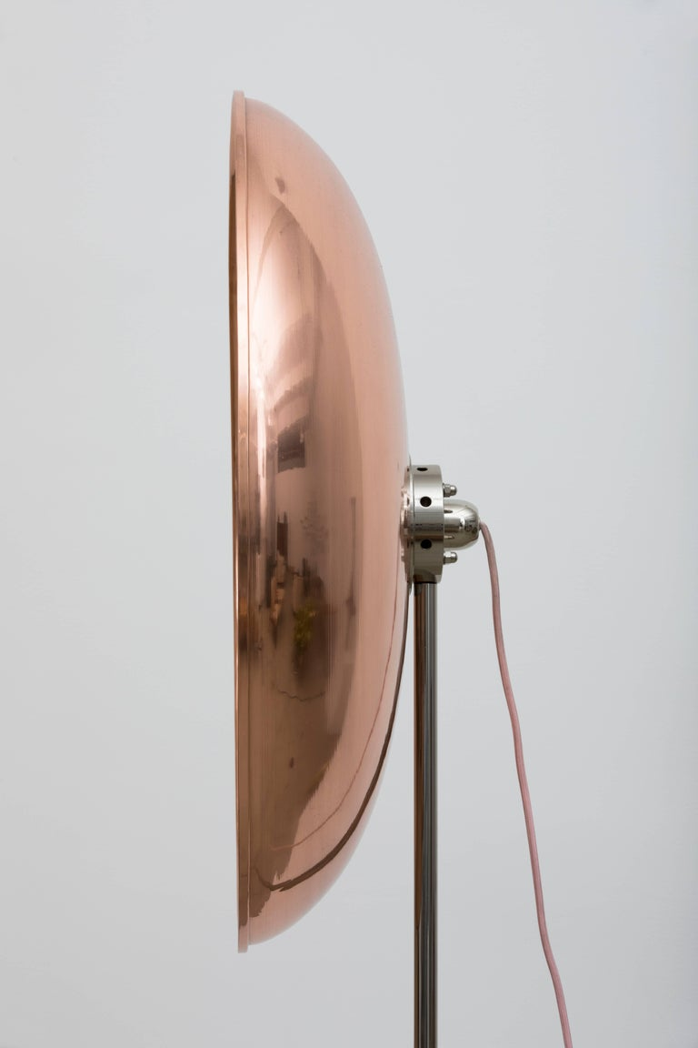 Parabola Oro Rosa, Copper Round Lamp by Atelier Biagetti In Excellent Condition For Sale In New York, NY