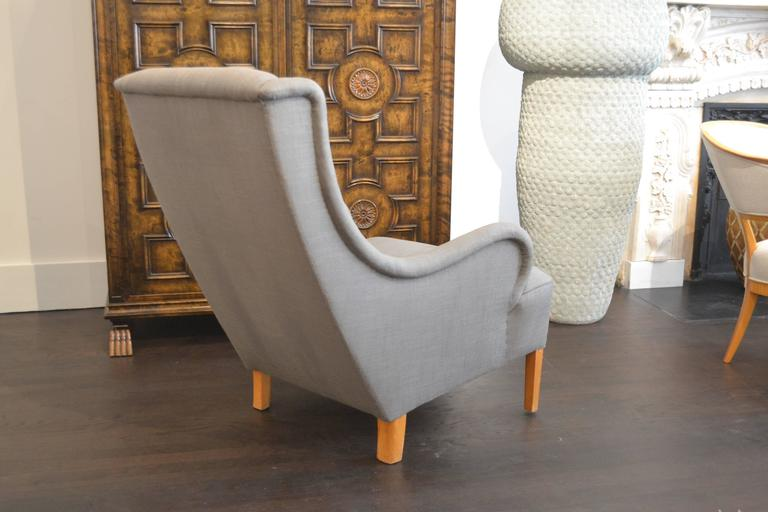 Swedish Rare Single Lounge Chair by Carl Malmsten, Sweden, 1950s For Sale