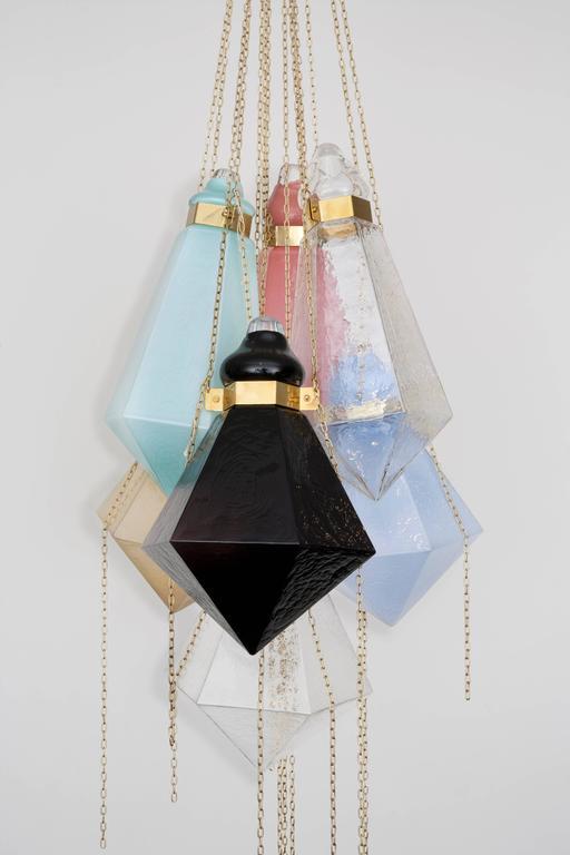 Glass Chandelier by Frida Fjellman, Sweden 2016 3
