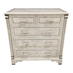 Maitland Smith Tessellated Stone Chest
