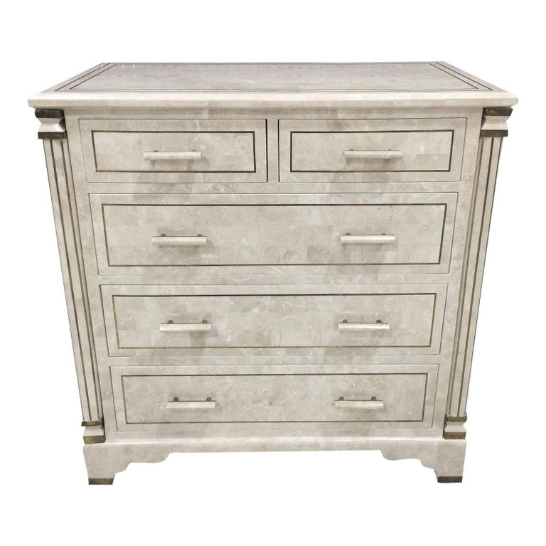 Maitland Smith Tessellated Stone Chest 1