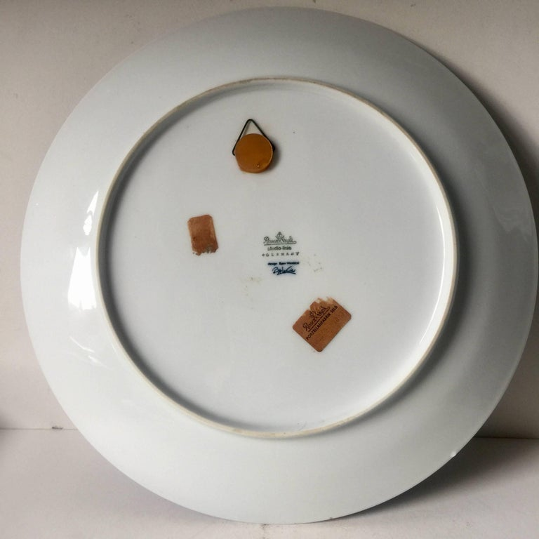 Set of Four Björn Wiinblad Charger Plates by Rosenthal Studio Line 5