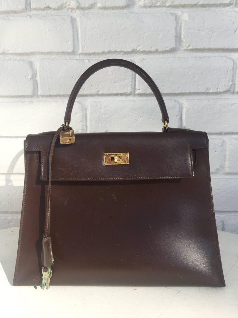 28cm Hermes Paris for Bonwit Teller Kelly Bag.