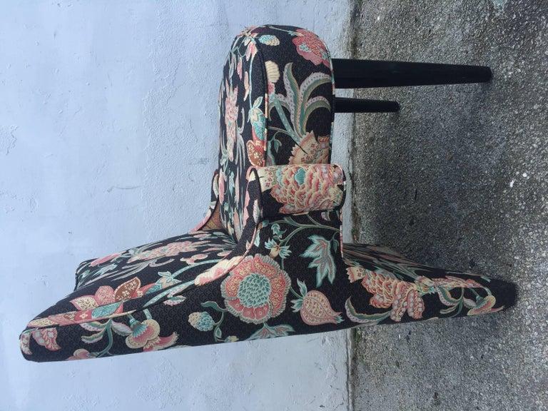 Hardwood Eight Kagan Inspired Armchairs For Sale