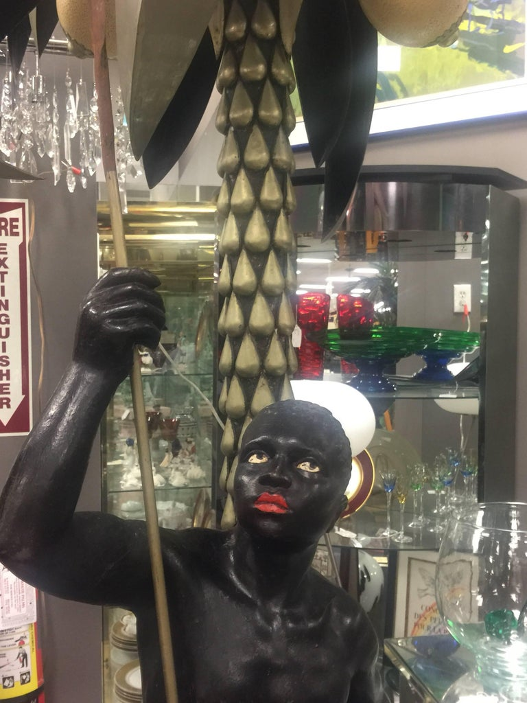 Metal Blackamoor in the Style of Anthony Redmile For Sale
