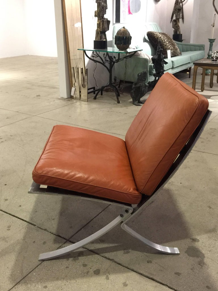 Pair of Mid-Century Modern Chairs with Steel Base For Sale 2