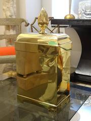 Lidded  Brass Box by Maitland Smith