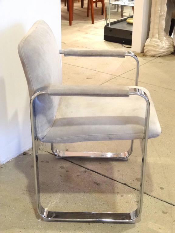 Polished Pair of Italian Armchairs For Sale