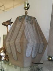 Ceramic Raku Glazed Table Lamp