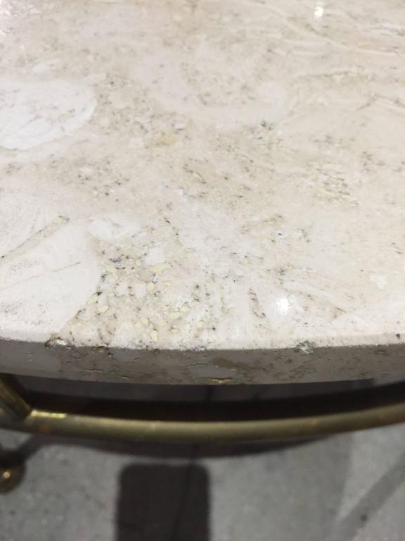 1940 French Style Brass Coffee Table In Good Condition For Sale In North Miami, FL