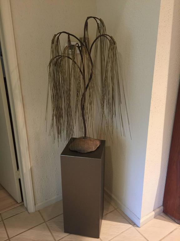 Bertoia Style Weeping Willow Tree Sculpture 7