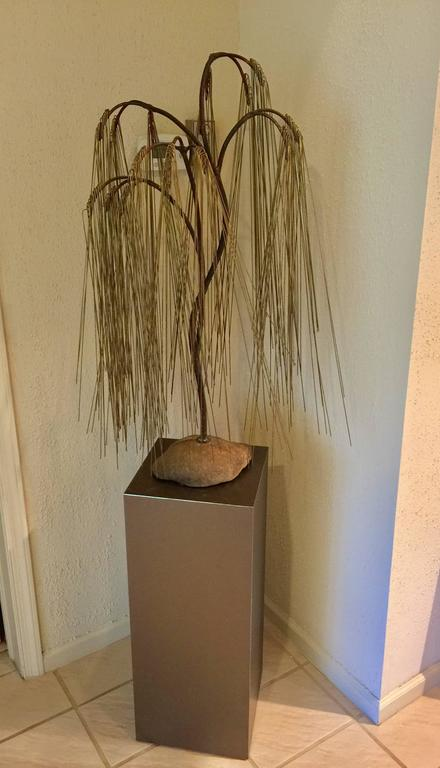Bertoia Style Weeping Willow Tree Sculpture 6