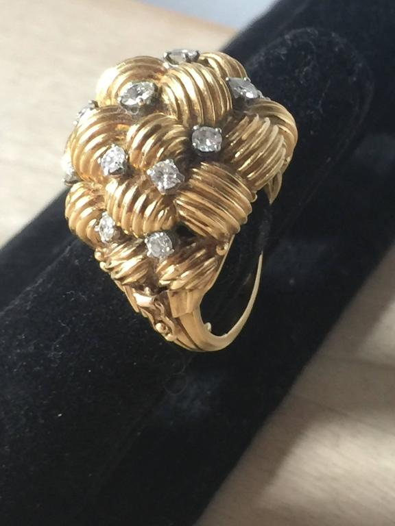 Diamond and Gold Cocktail Ring 2