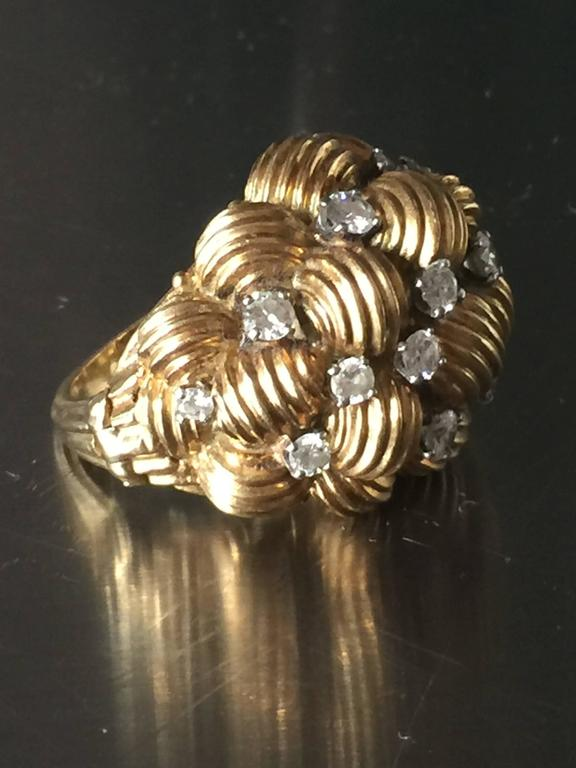 Diamond and Gold Cocktail Ring 3