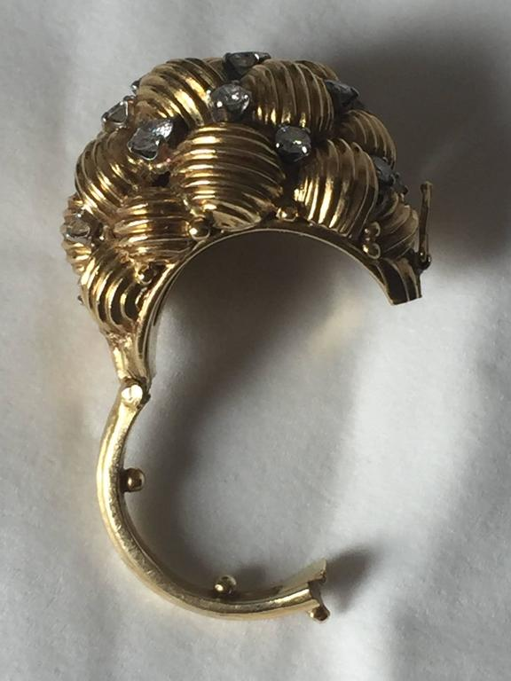 Diamond and Gold Cocktail Ring In Good Condition For Sale In North Miami, FL