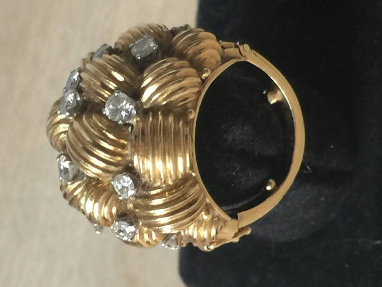 Diamond and Gold Cocktail Ring 9