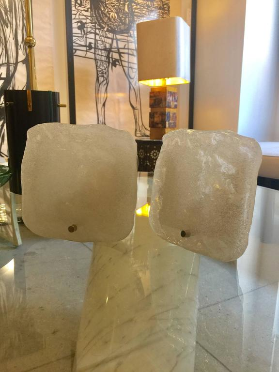 Pair of Italian Glass Sconces For Sale 4