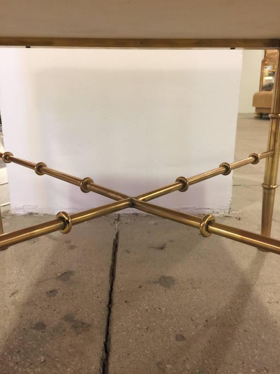 Brass Faux Bamboo Bench For Sale 1