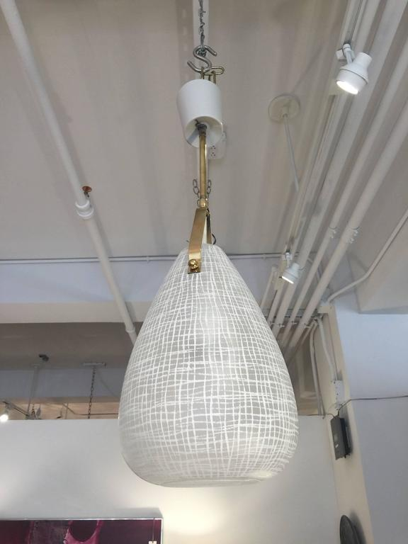 Italian Glass or Brass Pendant Chandelier 2