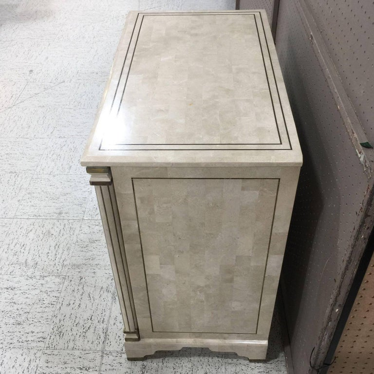 Maitland Smith Tessellated Stone Chest 4